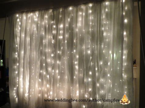 lighted curtains crafty creations booth backdrop weddingbee