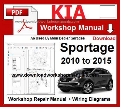 car repair manuals online pdf 2008 kia sportage security system kia workshop manuals