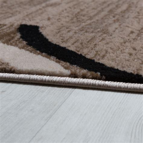 teppiche braun beige wohnzimmer teppich bord 252 re kurzflor meliert modern