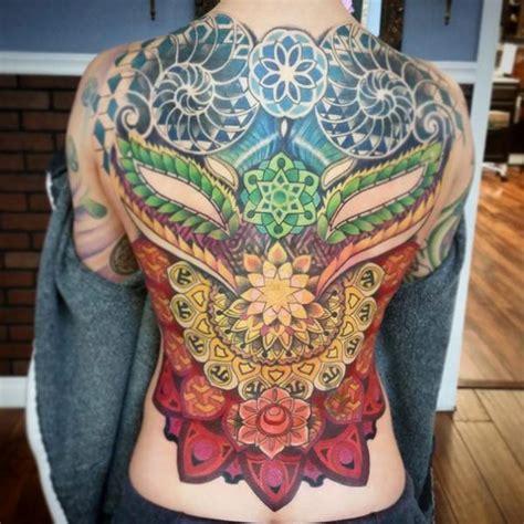 tattoo mandala oriental asian style mandalas full back tattoo by anthony ortega
