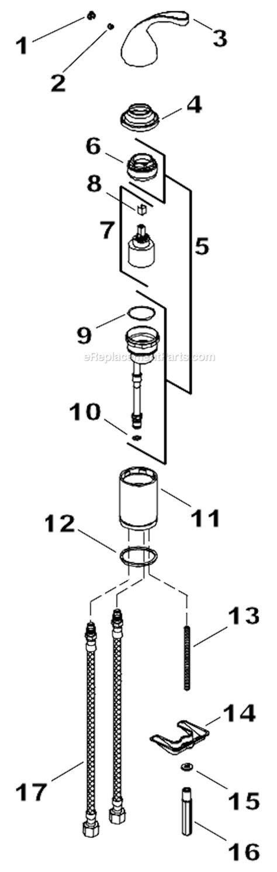 kohler kitchen faucet parts diagram kohler k 10430 parts list and diagram ereplacementparts com