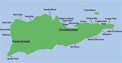 st croix vi map map of st croix beaches us islands best st