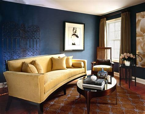 dark blue living room walls 20 blue living room design ideas