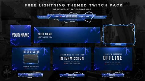 free twitch template pack designed by jadesgraphics