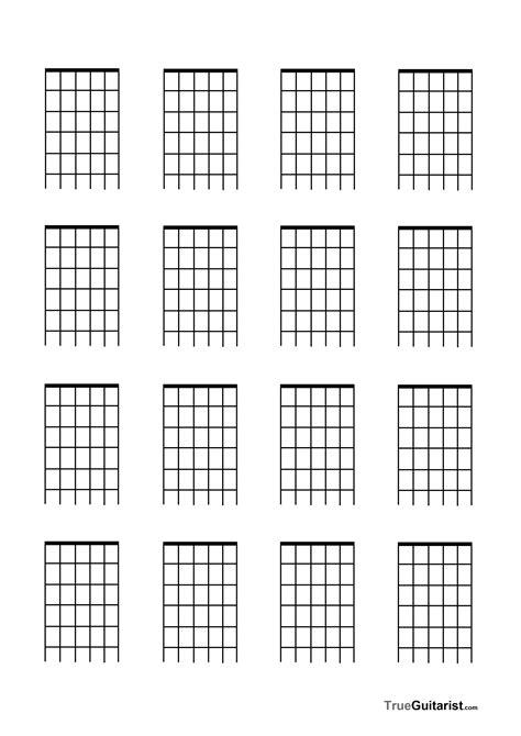 printable blank ukulele chord chart blank guitar fretboard diagramfree blank music paper