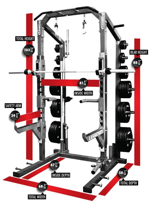 gold s gym pro series weight bench pro series half cage legend fitness