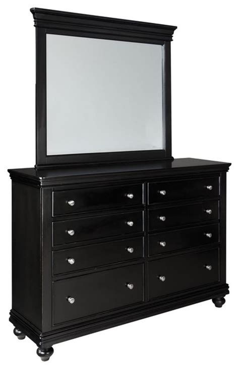 Black 8 Drawer Dresser by Standard Furniture Essex Black 8 Drawer Dresser With Mirror In Black Traditional Dressers