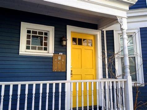 blue house yellow door navy house and yellow door home exterior pinterest