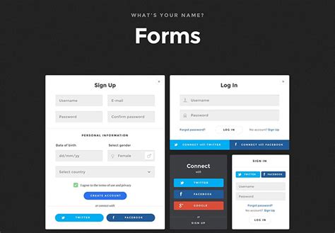 design a html form daily ui 001 sign in best free home design idea
