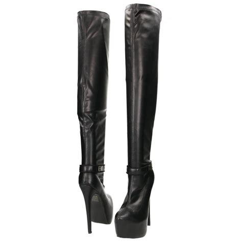 high heel the knee boots sko by a b the knee high heel stiletto