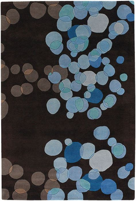 Chocolate Brown And Blue Area Rug Contemporary Rugs Avalina Brown And Blue Area Rugs Pinterest