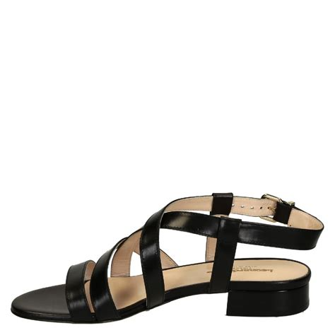 black sandals for low heels black leather strappy sandals for
