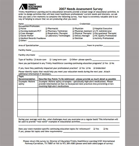 assessment template for nursing needs template of nursing