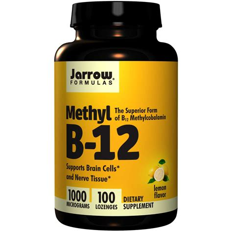 b12 supplement jarrow formulas methyl b 12 lemon flavor 1000 mcg 100