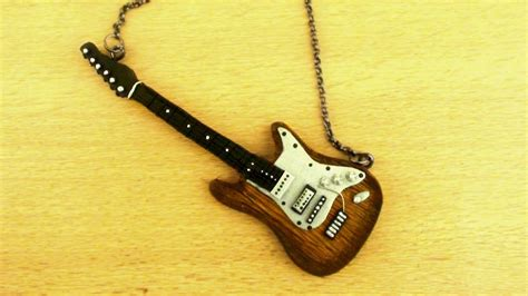 tutorial guitar electric polymer clay electric guitar tutorial charms doll houses