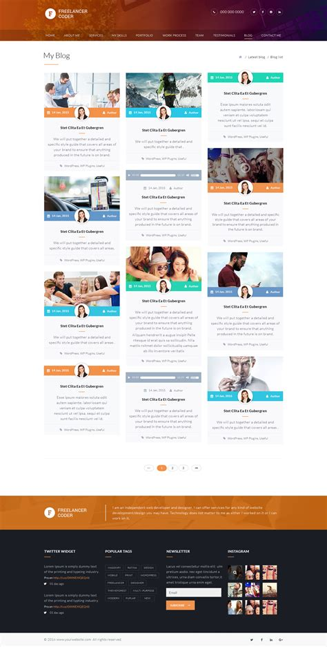 freelance portfolio template freelancer coder one page portfolio psd template by