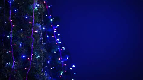 abstract blue blinking christmas lights stock footage