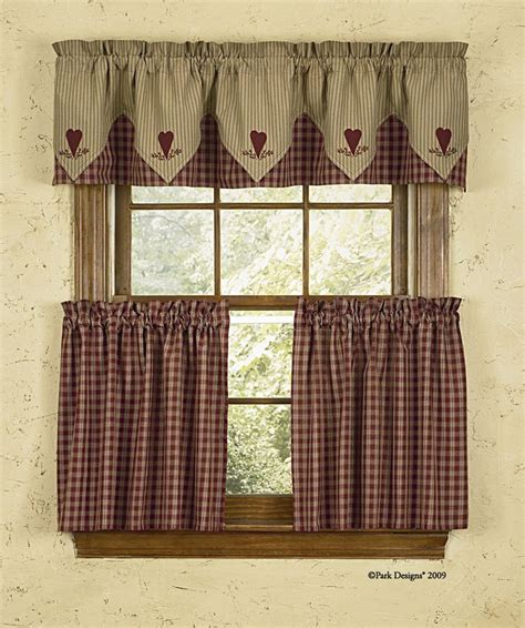 Country Kitchen Curtains And Valances Cortina Estilo Country Ideal Para La Cocina Cortinas Dise 241 Os Curtains Desing