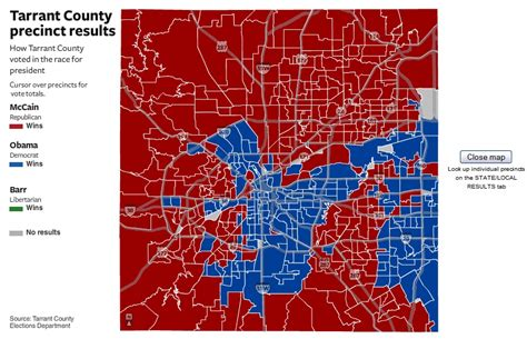 texas voting precincts map election results by precinct and county residential resident 2008 fort worth texas tx