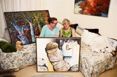 artist helene merriman overcomes  odds  stage alfred