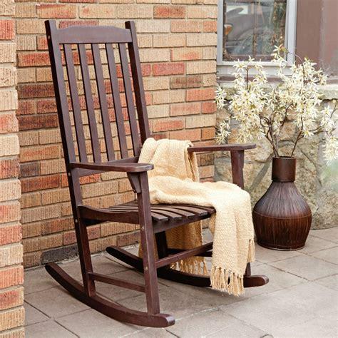outdoor patio rocking chairs indoor outdoor brown slat rocking chair