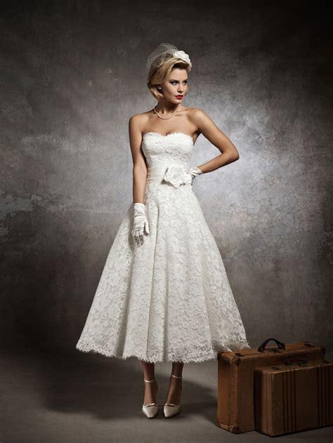 simple wedding dress tea length ipunya
