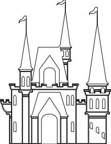 Disney World Castle Outline by Disneyland Castle Drawing Cliparts Co