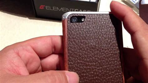 Ronin Fe Bumper Element Iphone 5 Iphone 5s Bumper Kayu wood leather aluminum ronin fe for the iphone 5 by element review