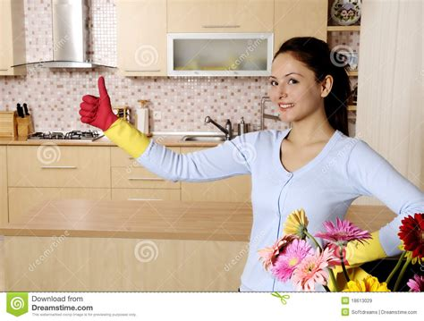 women of the house beautiful attractive women cleaning the house royalty free stock images image 18613029