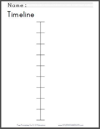 Timeline Worksheet For Kids Free To Print Primary Grades Pinterest Timeline Student And Timeline Generator Printable