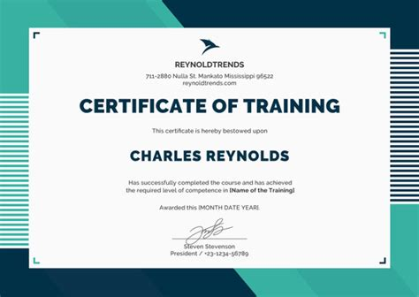 training certificate template 27 free word pdf psd