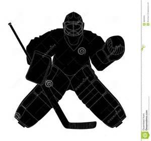 silhouette hockey goalie royalty free stock images image