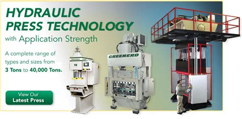 design and manufacturing of hydraulic presses greenerd hydraulic press solutions arbor press