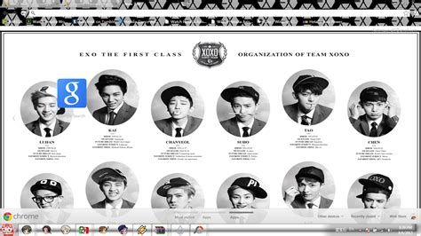 Theme Google Chrome Exo Wolf | exo chrome theme by barela on deviantart