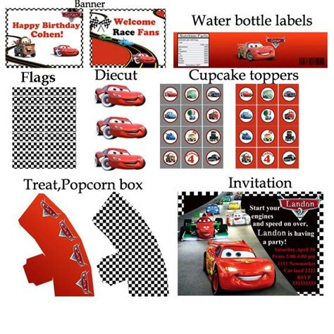 printable cars birthday decorations pin by birthday party ideas on disney cars birthday party
