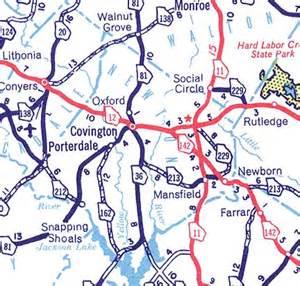newton county map georgiainfo