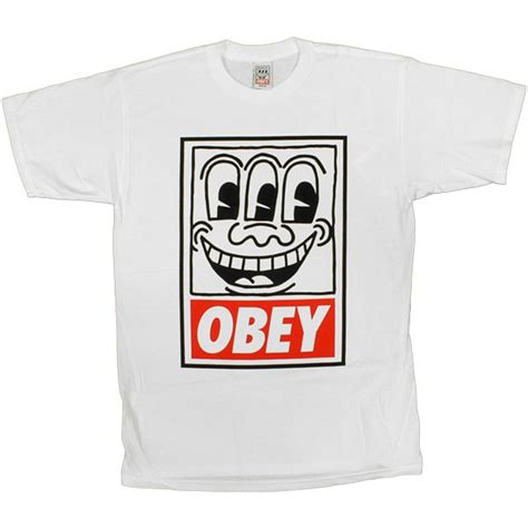 t shirt obey tees limited series keith haring haring white temple of deejays