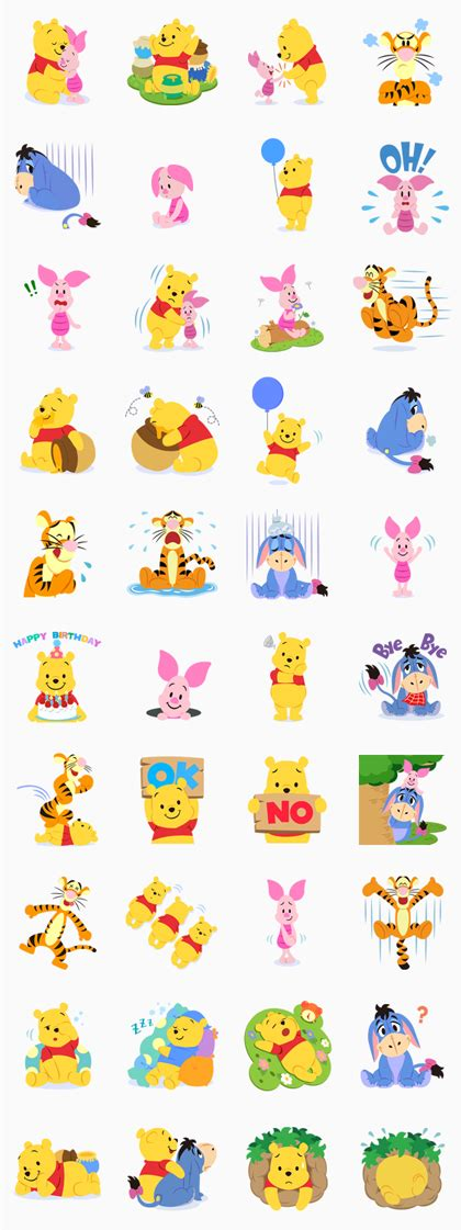 theme line android baby pooh winnie the pooh line 貼圖 at jp