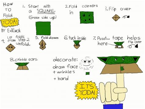How To Make Origami Yoda Step By Step - origami yoda origami yoda