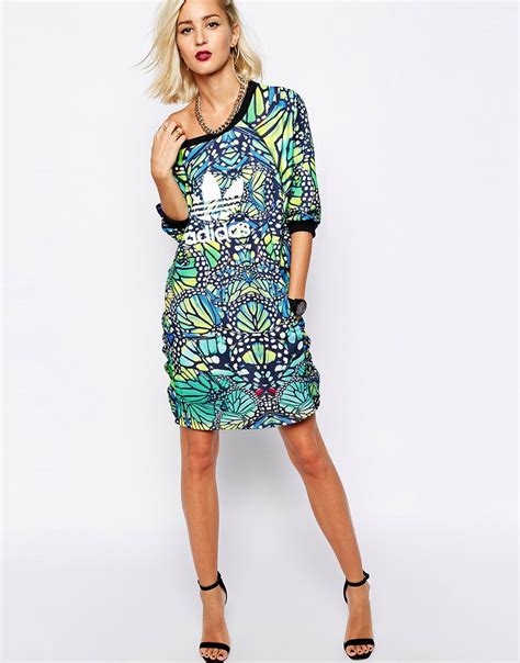 New Produk 43511 Dress Butterfly lyst adidas originals butterfly dress