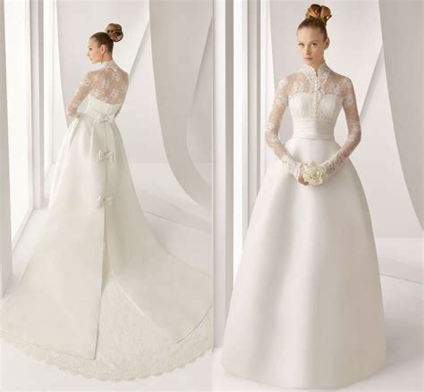 vintage lace wedding dresses with long sleevescherry marry