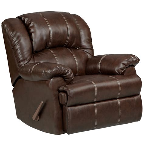Rocker Recliner by Exceptional Designs Brandon Brown Leather Rocker Recliner