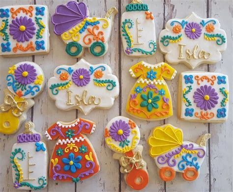 mexican embroidery baby shower cookies hayley cakes