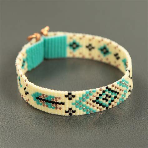bead loom bracelets turquoise feathers bead loom bracelet bohemian boho artisanal