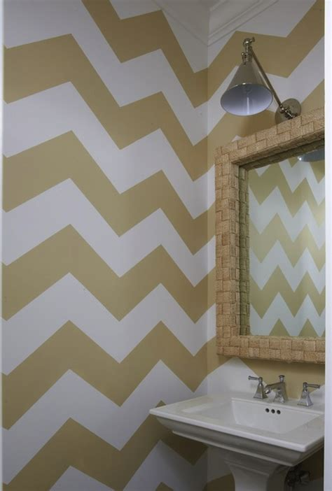 gold bathroom walls chevron girl bathrooms