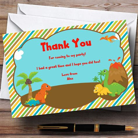birthday thank you card template 17 dinosaur birthday invitations how to sle templates