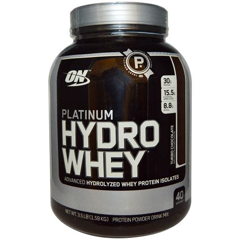 Whey Protein Platinum Optimum Nutrition Platinum Hydro Whey Turbo Chocolate 3