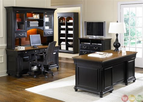 Home Executive Office Furniture with St Ives Traditional Executive Home Office Furniture Desk Set