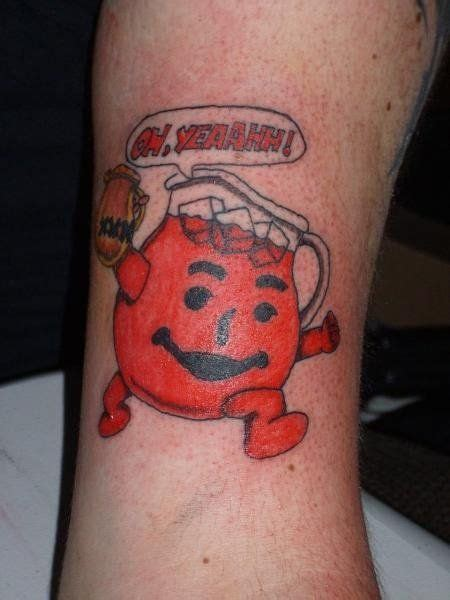 kool aid man tattoo busting out of your thigh screaming