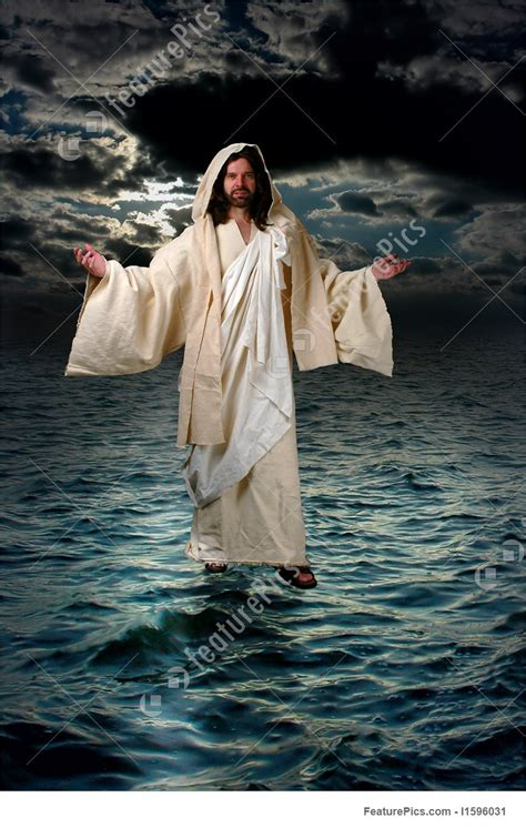jesus pictures jesus walking on the water stock photo i1596031 at featurepics